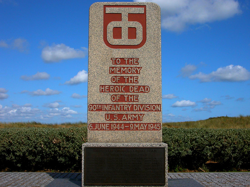 30th infantry division Monument in the Normandy Region of France