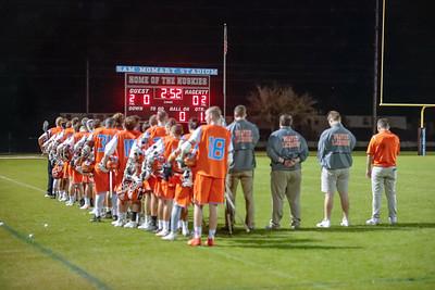 High School Lacrosse: Braves Varsity Lacrosse at Hagertuy High School.