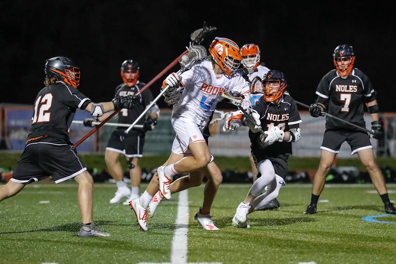High School Lacrosse: Braves Varsity Lacrosse Win First Game of Season Against Seminole.
