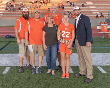 High School Flag Football: Braves Honor Seniors