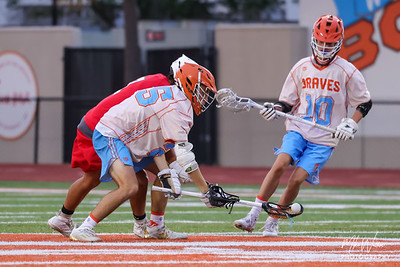 Mar 31, 2021; Orlando, FL, USA; Boone High Men's JV Lacrosse during a match against Edgewater High at McCoy Federal Credit Union Athletic Complex. Mandatory Credit: Mike Watters-Boone High Sports