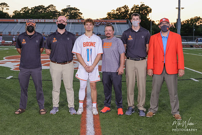 Apr 6, 2021; Orlando, FL, USA; Boone High Men's Varsity Lacrosse recognize seniors after a match against The First Academy at McCoy Federal Credit Union Athletic Complex. Mandatory Credit: Mike Watters-Boone High Sports