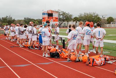 Feb 13, 2021; Orlando, FL, USA; Boone High School Men's Lacrosse pre season game cancelled due to weather.