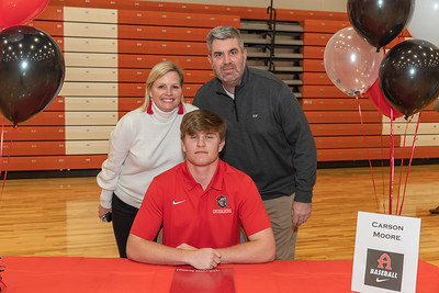 Feb 3, 2021; Orlando, FL, USA; Boone High School athletes during National Signing Day at Boone High School gymnasium. Mandatory Credit: Mike Watters-Boone High Sports