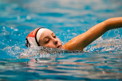 Feb 28, 2020; Orlando, FL, USA; Boone High Women's Water Polo during a match against Ransom at YMCA Aquatic Center. Mandatory Credit: Mike Watters-Boone High Sports