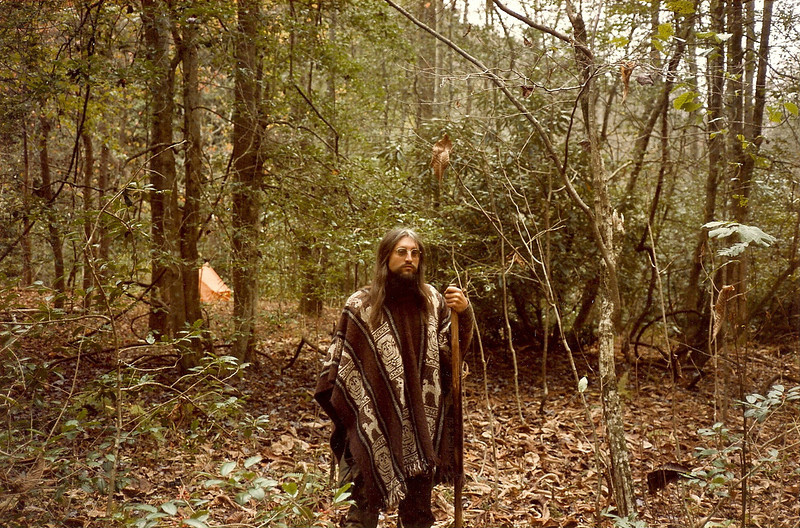 My Pisgah backpacking began in 1980-81 with a trip to Raider Camp Creek and then to Steels Creek with Pam and Nancy and later to Lost Cove Creek and finally in '84 to Upper Creek.  Here I am in the early 1980's along Raider Creek Camp.