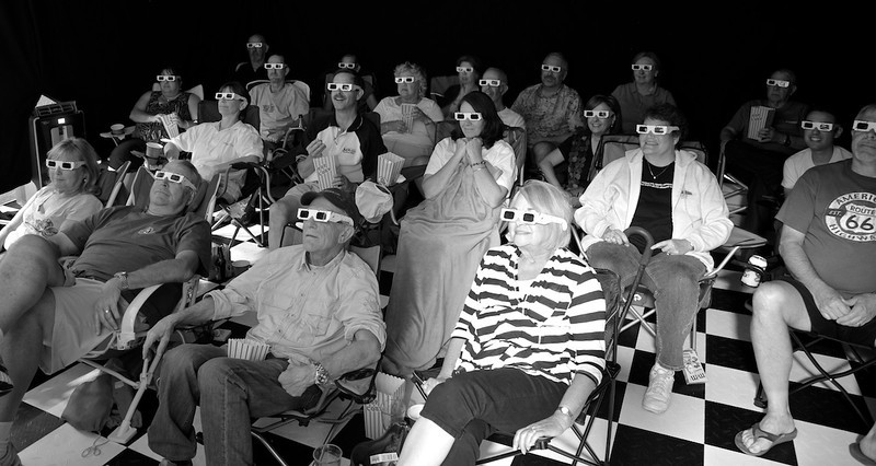 We've started featuring some anaglyph 3D fun during our pre-movie entertainment.