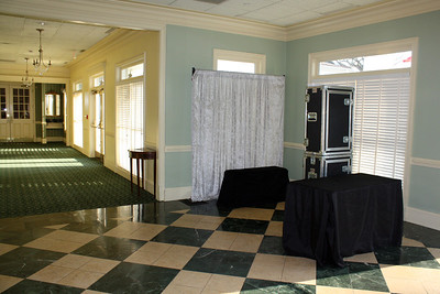 Athens Country Club Ballroom foyer - Open Air set up