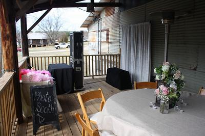 Thomas Cotton Gin, Watkinsville, GA - Open Air Booth on Porch