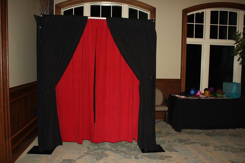 Enclosed booth outside the Rit-Carlton Lake Oconee Ballroom