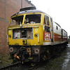 Part stripped POLICE liveried 47829 at the back of Booths yard