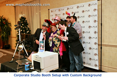 We designed this corporate background  and they use it every year for their Christmas Party.