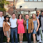 Kendall and Shannon Cogan, hosts Matt and Fran Thornton, Ghislain d'Humières, Viki Diaz, Nicholas Raudertas, Paul Diaz.