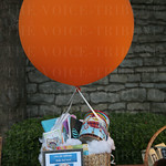 Silent auction items included a hot air balloon ride for two.