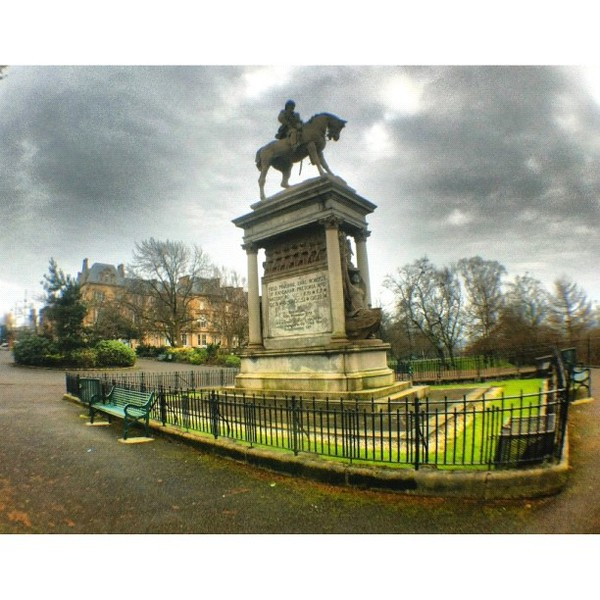 #statue dedicated to field Marshall Earl Roberts at #kelvin #grove #park #glasgow #scotland