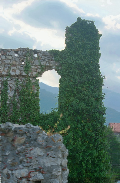 Mystras HDR in oil