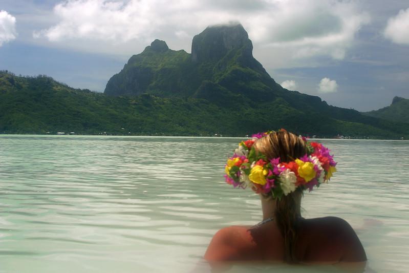 Oneea melting into Bora Bora's lagoon