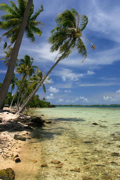 A little beach along the roadside in Bora Bora