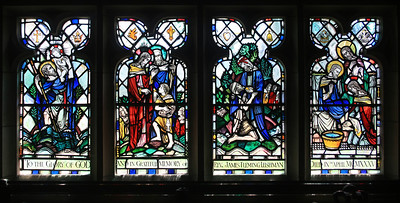 Stained glass, Linton church.