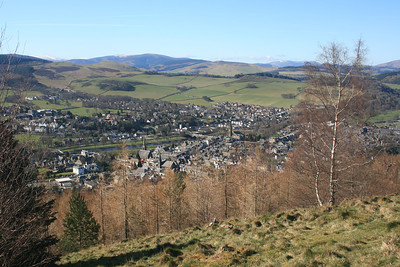 Peebles from Venlaw.