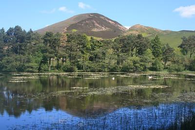 Mid Eildon over Bowdenmoor Reservoir.