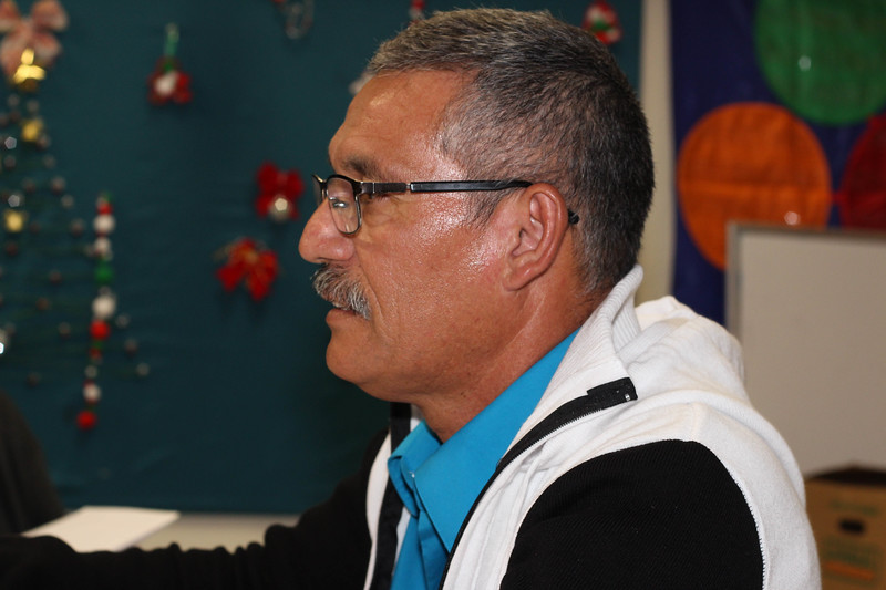 WELCA/Ammparo Border Immersion trip, February 1-5 2020, El Paso, Texas | <br /> <br /> <br /> Pastor Juan de Dios Lopez shared his story and how became involved with Cristo rey.