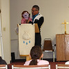 WELCA/Ammparo Border Immersion trip, February 1-5 2020, El Paso, Texas | <br /> <br /> <br /> Pastor Juan de Dios Lopez leads the Children's sermon.