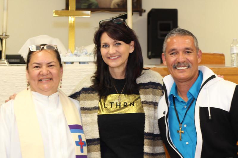 WELCA/Ammparo Border Immersion trip, February 1-5 2020, El Paso, Texas | <br /> <br /> <br /> Pastor Rose Mary, Lisa Plorin and Pastor Juan de Dios Lopez.