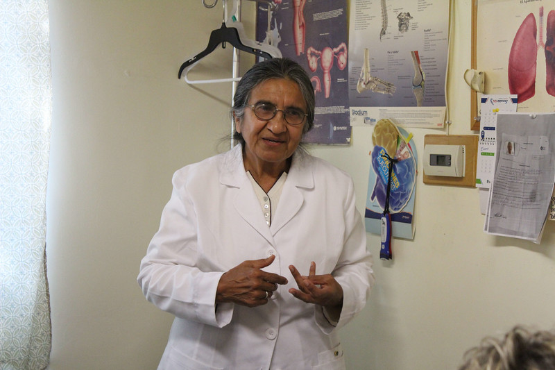 WELCA/Ammparo Border Immersion trip, February 1-5 2020, El Paso, Texas | <br /> <br /> <br /> Dra. San Juana Mendoza-Bruce runs the Cristo Rey Medical Clinic, Juarez, Mexico. The clinic offers medical and dental services to the community.