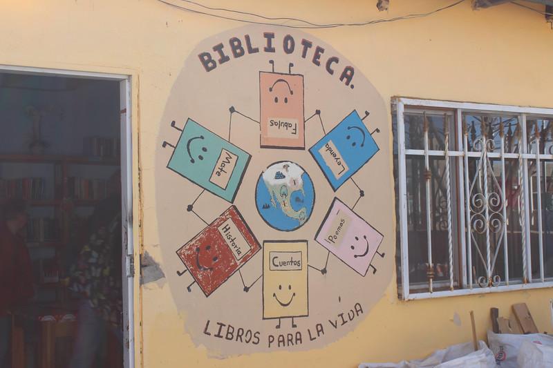 "WELCA/Ammparo Border Immersion trip, February 1-5 2020, El Paso, Texas | <br /> <br /> <br /> Biblioteca Para la Vida or ""Library for life"", Anapra, Chichuachua, Mexico."