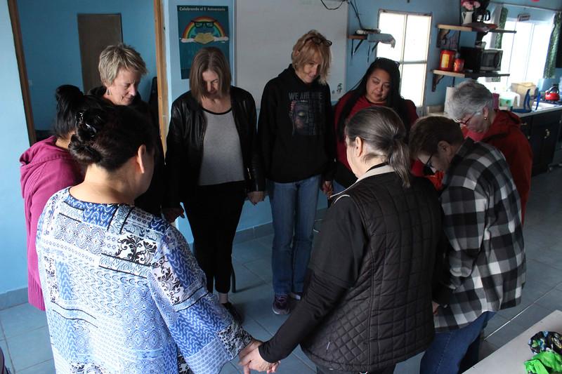 WELCA/Ammparo Border Immersion trip, February 1-5 2020, El Paso, Texas | <br /> <br /> <br /> We conclude our visit to the Biblioteca Para La Vida with prayer.