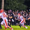 Groton-Dunstable quarterback Michael Tammaro takes off up-field past North Middlesex's Zac Wheeler. Nashoba Valley Voice/Ed Niser