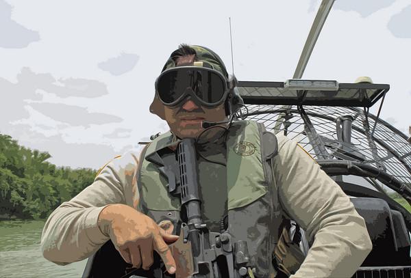 River Patrol along the Rio Grande river in Laredo.