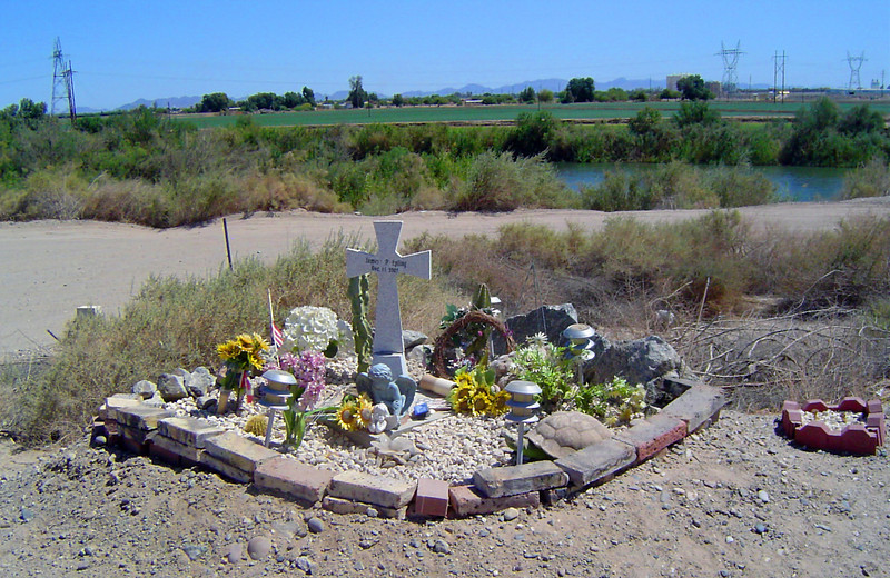 Monument to Border Patrol Agent James P. Epling in Arizona who was killed in the line of duty in December 2003.