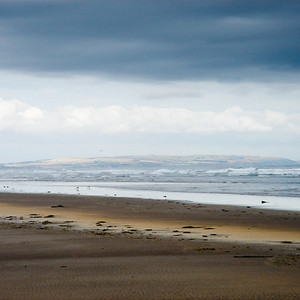 North shore, Lindisfarne, view towards Berwickshire, Scotland