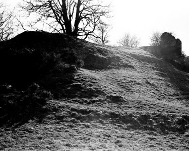 Mitford, Northumberland, the motte