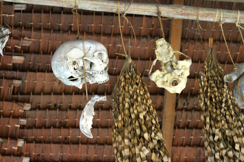 The skull house at the local village museum we saw