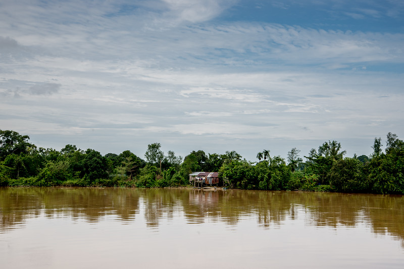 Hut Along Kinabatangan River