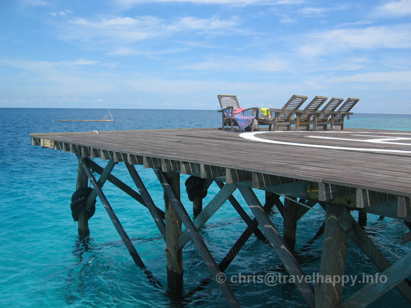 Helipad, Lankayan Island, Borneo, Malaysia