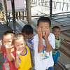 Kids at Penimbawan water village