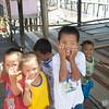 Kids at Penimbawan water village