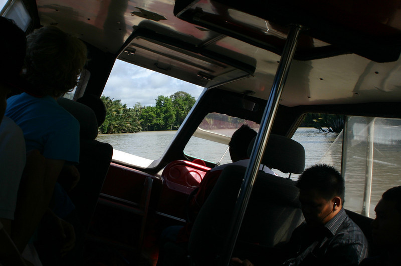 On a speed boat from a dock near Residency Jetty in Bandar Seri Begawan to Bangar in the Temburong district.