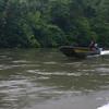 A passing longboat