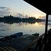Sunset at our lodge on Kinabatangan river