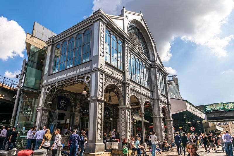 Love borough market area of London