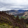 View up Borrowdale towards Great End