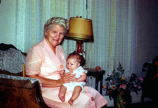 My grandma Boshell holding Sherrie, She lived to be 99.