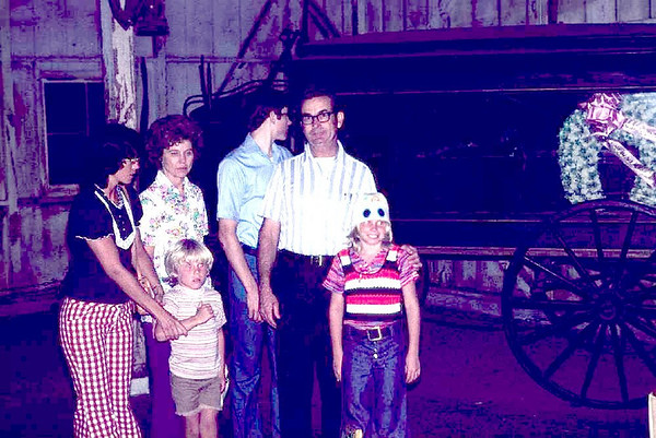 Uncle William Pickens, Aunt Phyllis and their son Glenn with Marion, David and Sherrie.