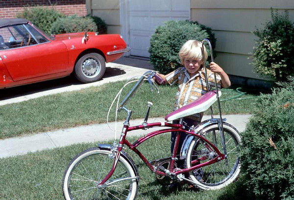 David and his new bike at 2730 S. Washington Street, Englewood, CO approx 1971.