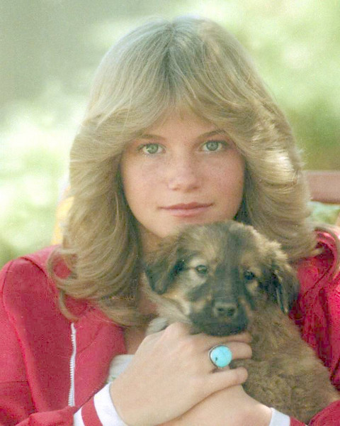 Sherrie and puppy.